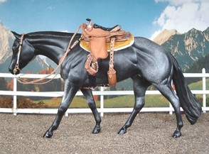 Winning photo show entry from 2004. Horse customized by McNamee, tack by Lea Sallis