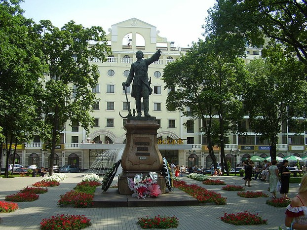 Statue of Peter the Great in Voronezh