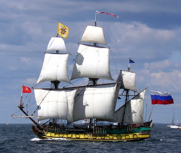 Replica of 'Shtandart', the first ship built for the Baltic Fleet