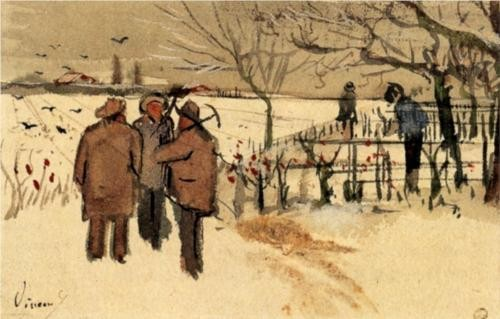 Miners in the Snow - Vincent Van Gogh