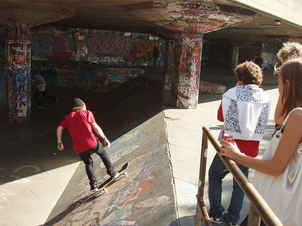 Skateboarders, Skate Park, South Bank