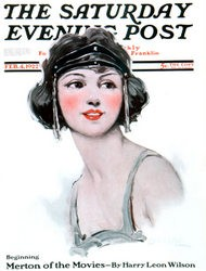 A Flapper pictured on the cover of the Saturday Evening Post
