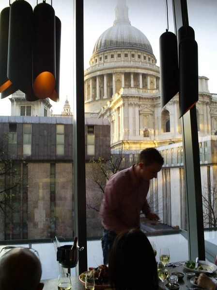 View of St Paul's from 'Barbecoa'