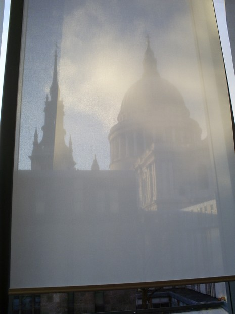 St Paul's  filtered through Barbecoa blinds