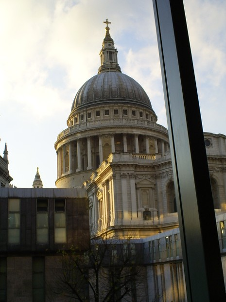 View of the St Paul's Cathedral from Barbecoa
