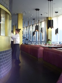 Inside  'Barbecoa' Restaurant