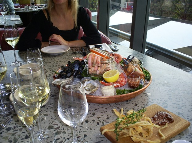 Sea Food Platter at 'Barbecoa' - Half eaten!