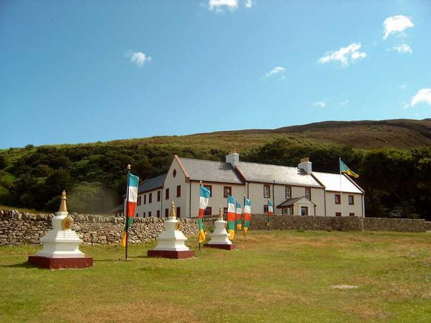 Buddhist Centre for world peace and health on Holy Isle