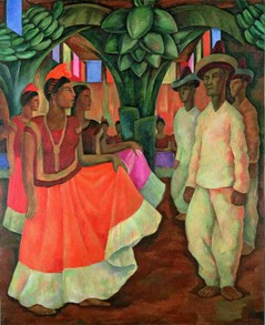 Diego Rivera Dance in Tehuantepec (Baile in Tehuantepec), 1928