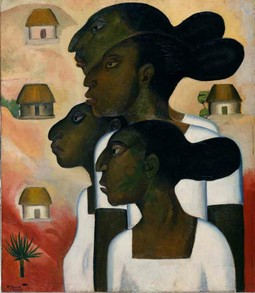 Roberto Montenegro, Mayan Women, 1926  Oil on canvas, 80 x 69.8 cm