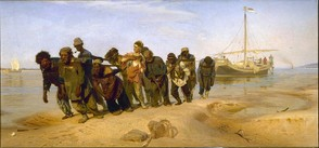 Barge Haulers on the River Volga - Repin