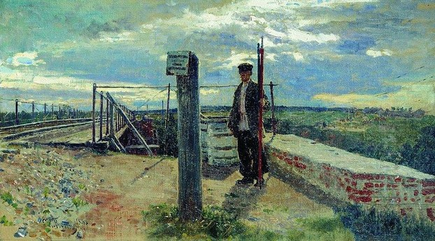 The Railway Guard by Repin