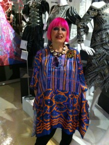 Zandra Rhodes at the Fashion and Textile Museum