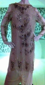 Fully Beaded Dress from Fables of the Sea Collection 1984
