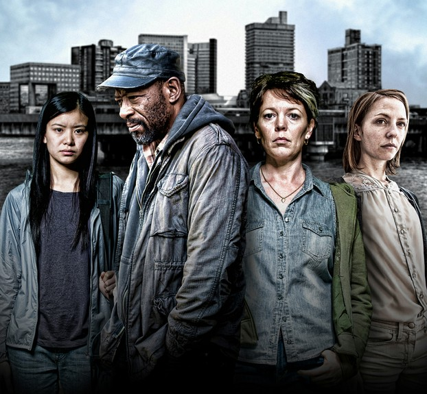 Katie Leung as Ying, Lennie James as Richard, Olivia Colman as Carol and Katharina Schüttler as Kasia in Run