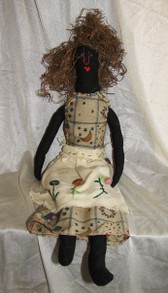 Vintage Voodoo Rag Doll with pins hidden in its head
