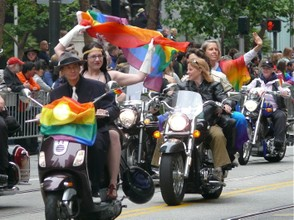 Dykes on bikes at 2013 Pride, in San Francisco