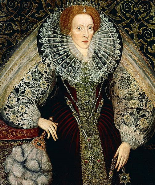Elizabeth I with Feather Fan