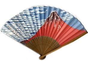 Modern Souvenir Fan of Mount Fuji