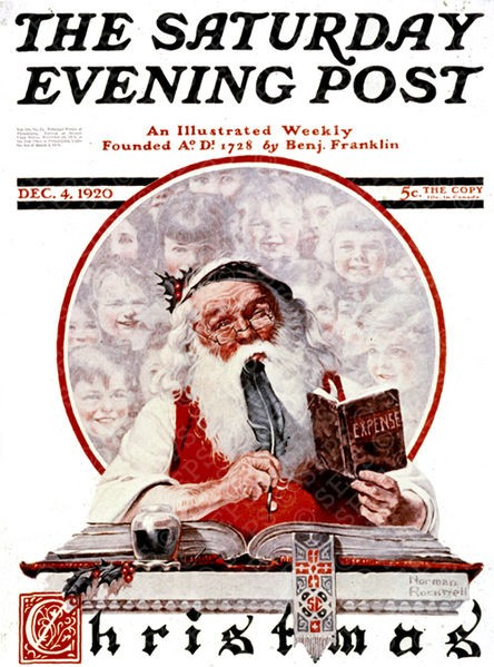 Norman Rockwell's 'Santa and Expense Book'