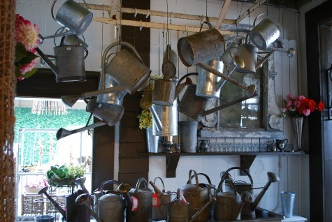 A person can never have too many watering cans