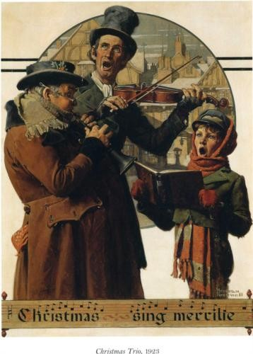 Christmas Trio by Norman Rockwell