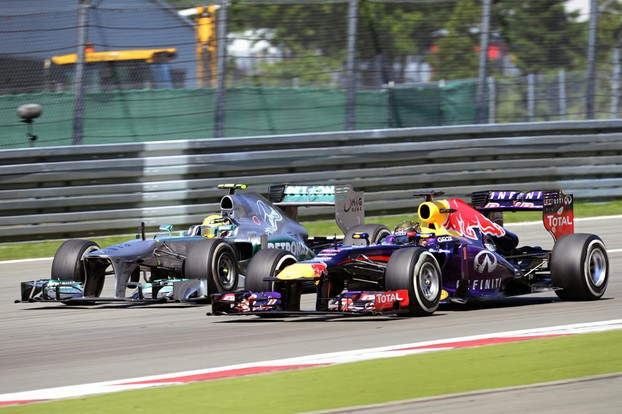 Race action from the German Grand Prix
