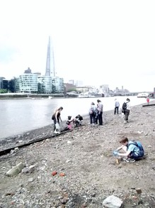 Exploring the Thames Foreshore - Shard in Distance
