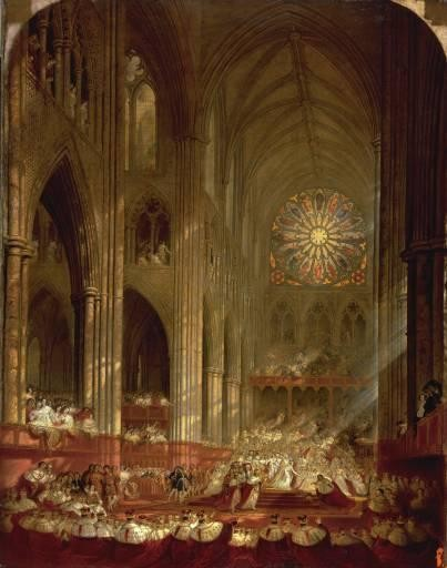 Coronation of Queen Victoria - John Martin