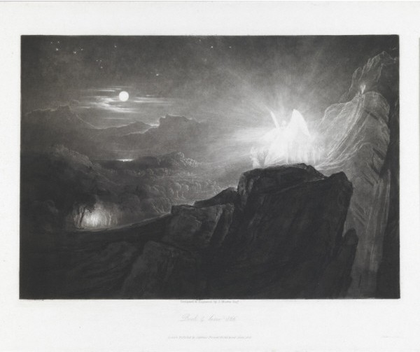 Angels Guarding Paradise at Night - John Martin