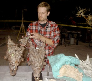 Mike Pyette of Port Hope looks at the first Dracorex hogwartsia excavated from the Hell Creek Formation in South Dakota.