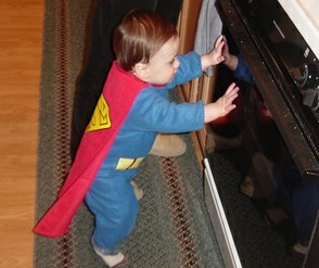 My son as Superman