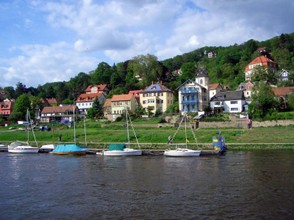 Village Along the Elbe River