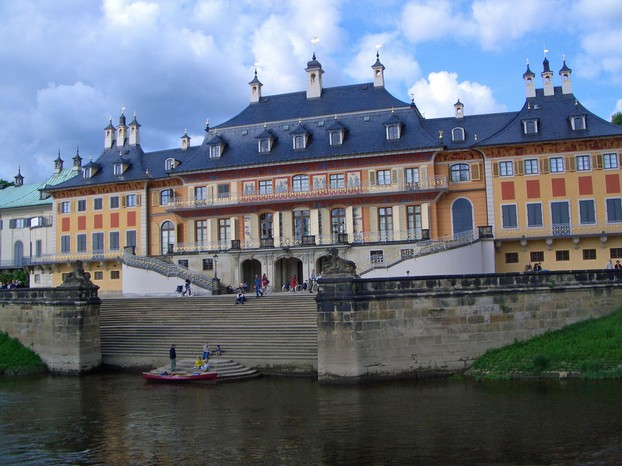 Pillnitz Castle from the River Elbe