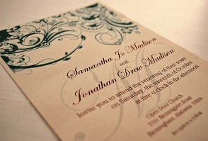 There is nothing wrong with beautiful traditional wedding invitations