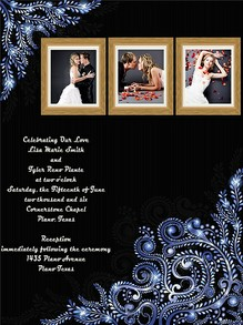 Your wedding invitation can be emailed out quickly