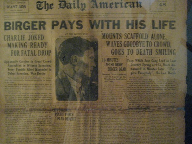 Newspaper about Birger hanging