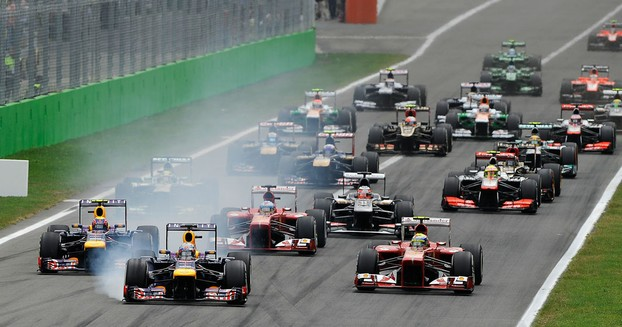 Red Bull and Ferrari battle it out at Monza