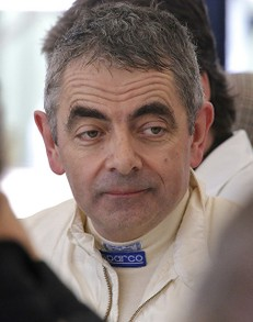 Rowan Atkinson at Goodwood 2013
