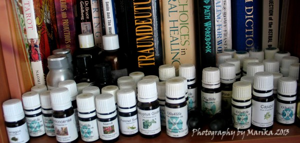 A Small Selection Of My Essential Oils At Home