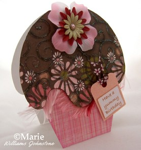 Handmade Cupcake Card and Free Template