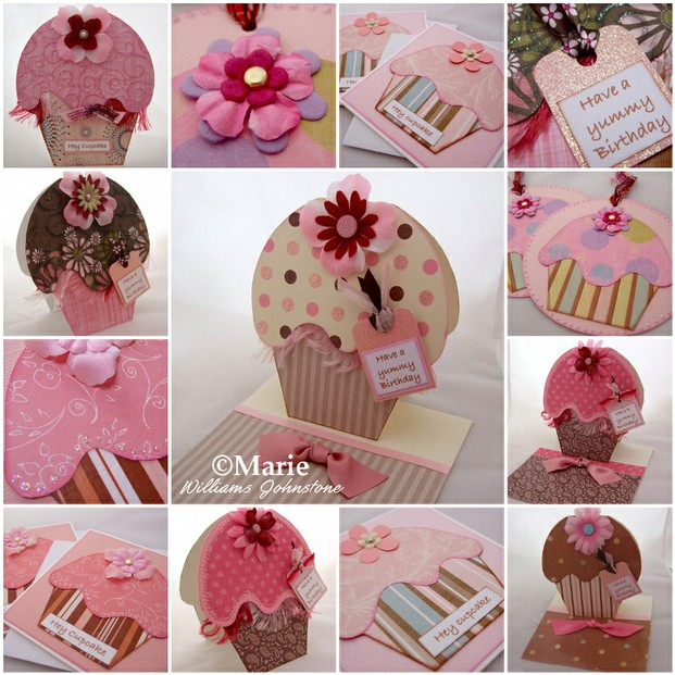 Cupcake Cards and Handmade Tags Mosaic