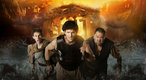 Robert Emms, Jack Donnelly and Mark Addy in Atlantis