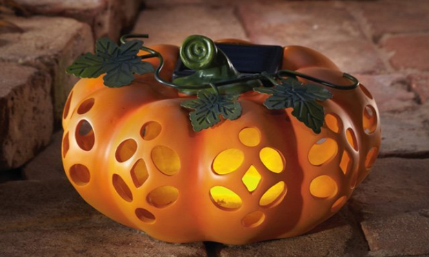 Solar Powered Jack O Lantern Halloween Decoration