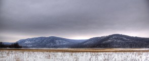 Baraboo Range in winter