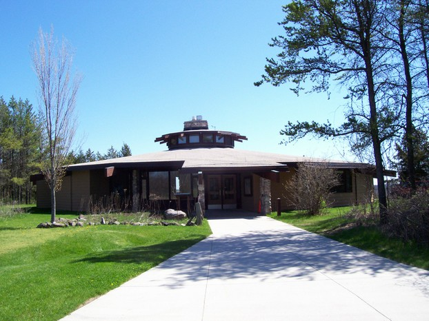 Henry S Reuss Ice Age Visitor Center near Dundee: headquarters of northern unit of Kettle Moraine State Forest