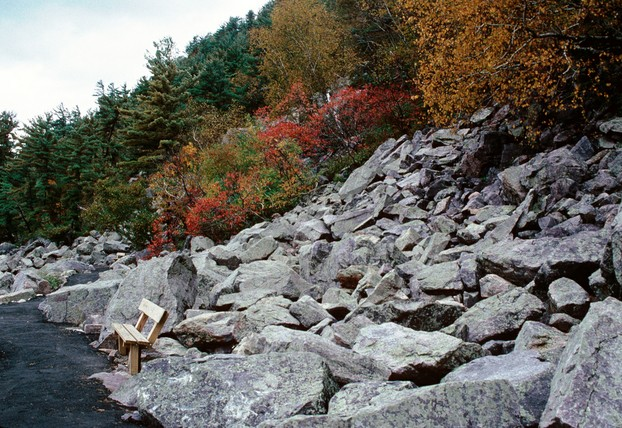 bouldered moraine along Ice Age National Scenic Trail, Devil's Lake