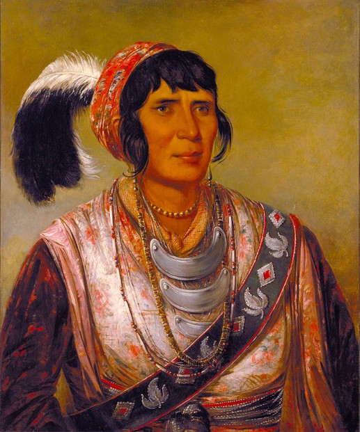 1838 oil on canvas by George Catlin (July 26, 1796-December 23, 1872)