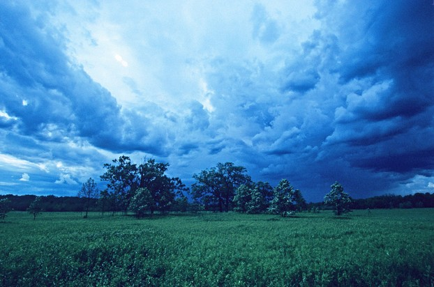 storm clouds over Kettle Moraine Low Prairie (SNA No. 88), a few miles north-northwest of Paradise Springs