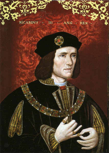Richard III as a Tudor painter portrayed him in the late 16th century